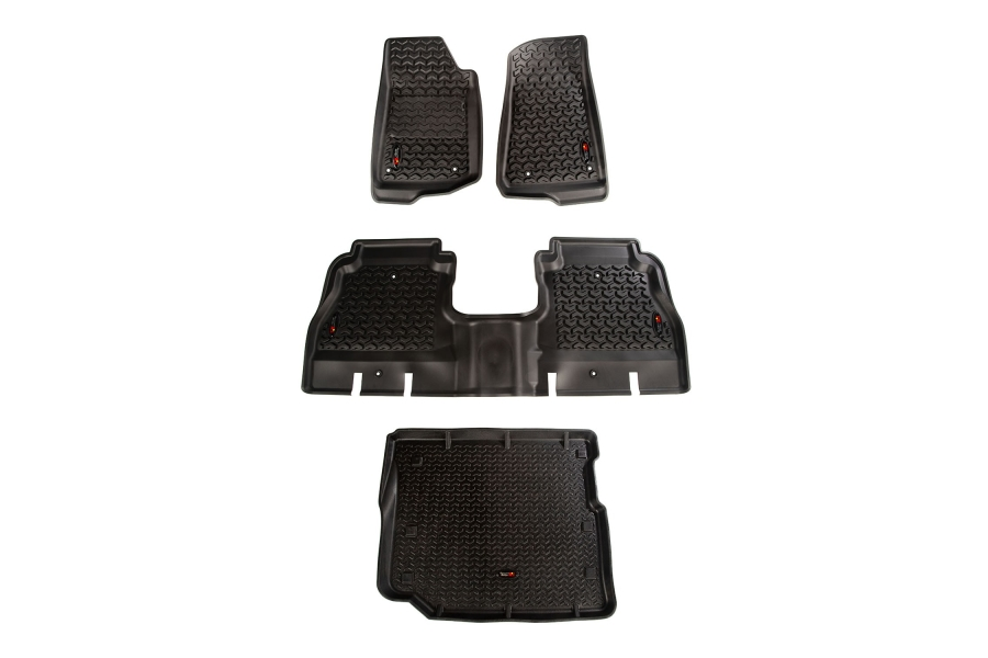 Rugged Ridge Floor Liner Kit, Black - JL 4Dr