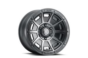 ICON VEHICLE DYNAMICS Victory Satin Black Wheel, 17x8.5 5X5 - JT/JL/JK