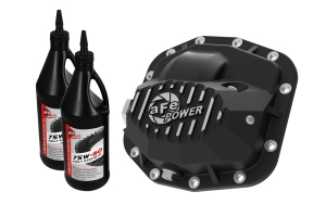 AFE Power Pro Series Dana M186 Front Differential Cover Black w/ Oil - JL 3.6L