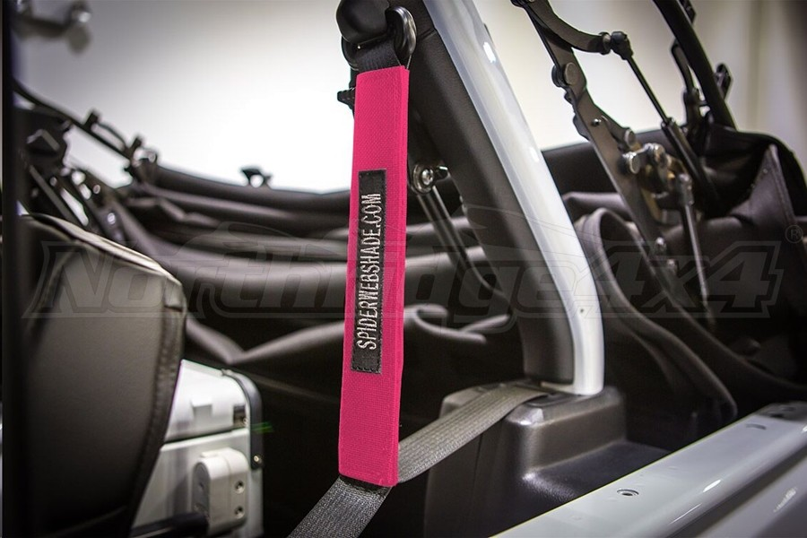 Spiderwebshade SeatBelt Silencers Pink (Part Number:SWS-SBSLNR-01-JL4D-PNK)