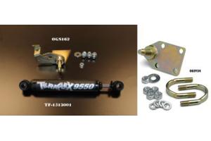 JKS Steering Stabilizer Mount Relocator and Tie Rod Mount Kit w/Teraflex Stabilizer - JK