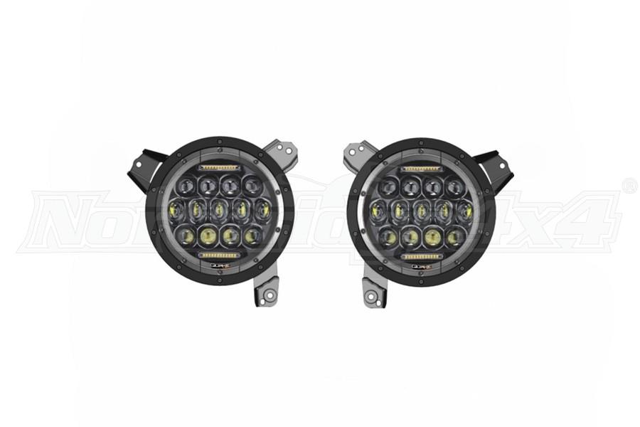 Quake LED 9in RGB Headlights - Quad Lock/Interlock Compatible - JL/JT
