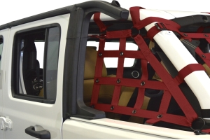 Dirty Dog 4x4 2pc Cargo side only Netting Kit, Maroon - JL 4Dr