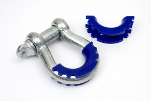 Daystar D-Ring/Shackle Isolators - Pair, Blue