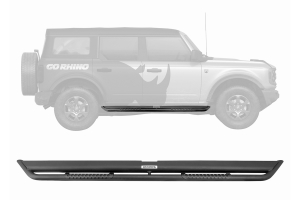 Go Rhino Dominator Extreme DS Side Steps Kit - Black - Ford Bronco 4Dr