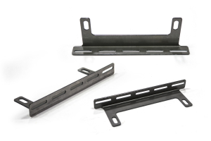 LOD Destroyer Front Bumper Aux Light Mount Bare Steel (Part Number: )