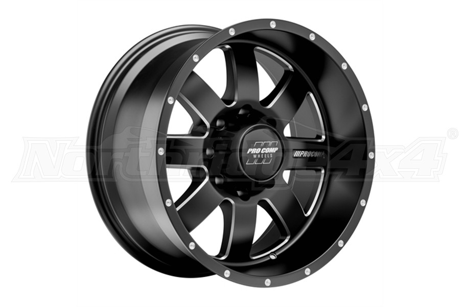 Pro Comp 73 Series Trilogy Wheel Satin Black 17x9 8x6.5 (Part Number:5173-7982)