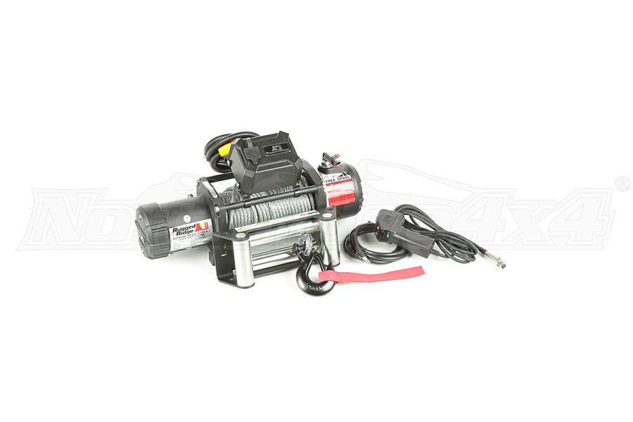 Rugged Ridge Winch, 9500 LBS, Cable, Waterproof (Part Number:15100.05)