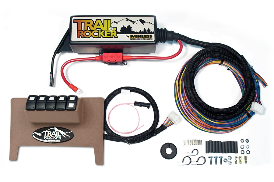 Painless Performance Products Trail Rocker Accessory Control System Tan (Part Number:57001)