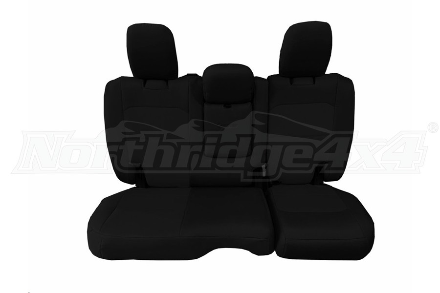 Bartact Tactical Rear Seat Cover w/Fold Down Armrest Black/Black (Part Number:JLSC2018RFBB)