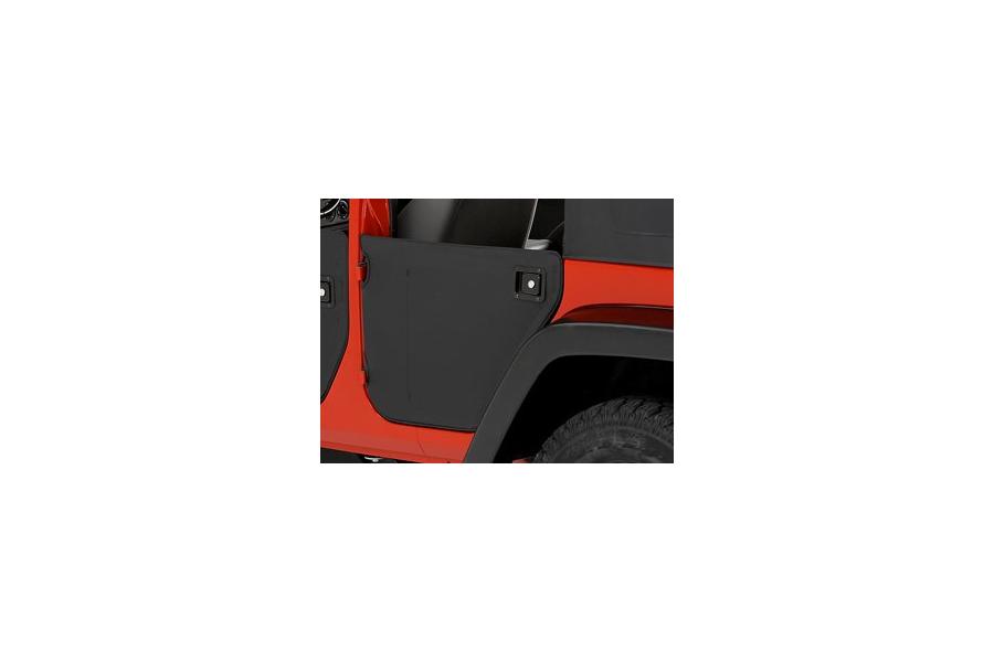 Bestop Fabric Lower Rear Half Doors Black Diamond - JK 4dr