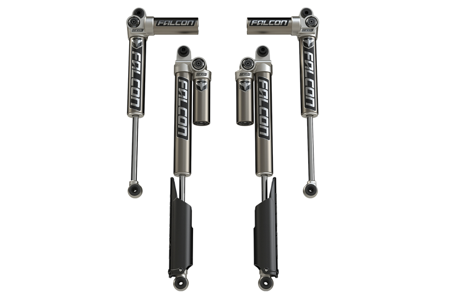 Teraflex Falcon Series 3.1 Piggyback Front & Rear Shock Absorbers, 2-4.5in Lift - JL 4Dr