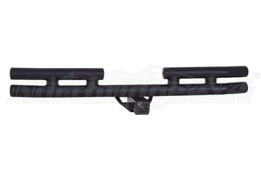 Smittybilt Tubular Rear Bumper W/Hitch Gloss Black (Part Number:JB44-RH)