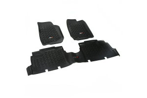 Rugged Ridge Floor Liner Kit, Black - JK 4dr