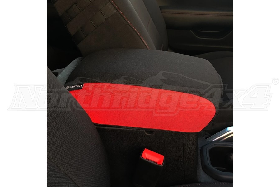 Bartact Padded Center Console Cover - Black/Red - JL
