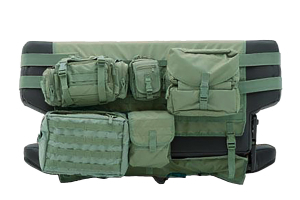 Smittybilt G.E.A.R. Rear Cargo Seat Cover  O.D. Green (Part Number: )