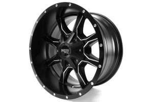 Moto Metal Wheels MO970 Semi Gloss Black w/Milled Spokes 18x10 8x180 (Part Number: MO97081088924N)