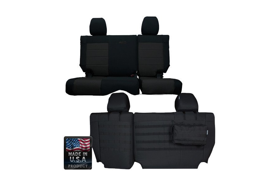 Bartact Rear Split Bench Seat Cover (Part Number:JKSC1112R4B)