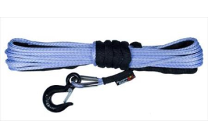 Rugged Ridge 1/4-Inch Synthetic Winch Line, Blue  (Part Number: )