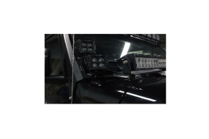 Quake LED Dual Pods 52IN Roof Light Bar/ 42IN Cowl Light Bar A-Pillar Brackets  - JT/JL