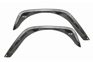 Motobilt Crusher 4in Rear Fender Flares - Bare - JK