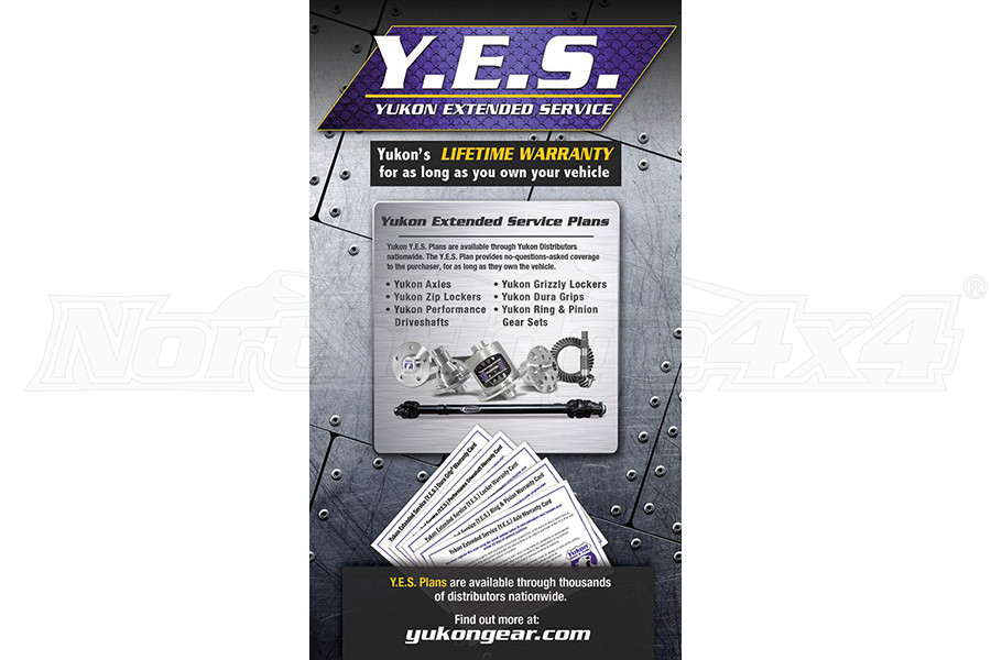 Yukon Y.E.S. Extended Service WARRANTY ( Part Number: YESRP)