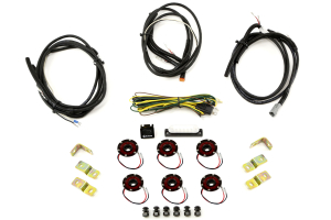 KC Hilites Rock Light Kit, 6 Lights, Red (Part Number: )