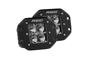 Rigid Industries D-Series PRO Flood Flush Mount Lights, Pair