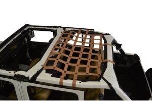 Dirty Dog 4x4 Rear Seat Netting, Sand - JL 4Dr