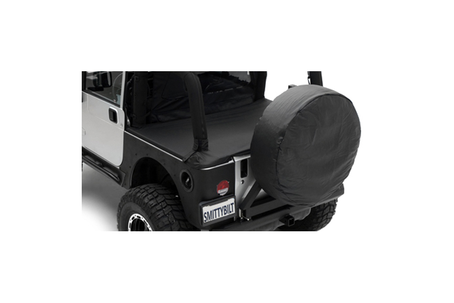 Smittybilt Spare Tire Cover Medium Tire 30in - 32in Black Denim (Part Number:773215)