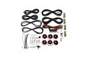 KC Hilites Cyclone 6-Light LED Rock Light Kit - Red