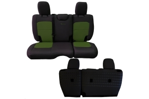 BARTACT Seat Cover Rear Black/Olive (Part Number: )