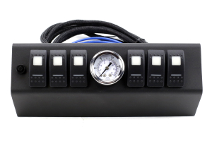 SPOD 6 SWITCH W/ AIR GAUGE AND DOUBLE LED SWITCHES & SOURCE SYSTEM Amber - JK