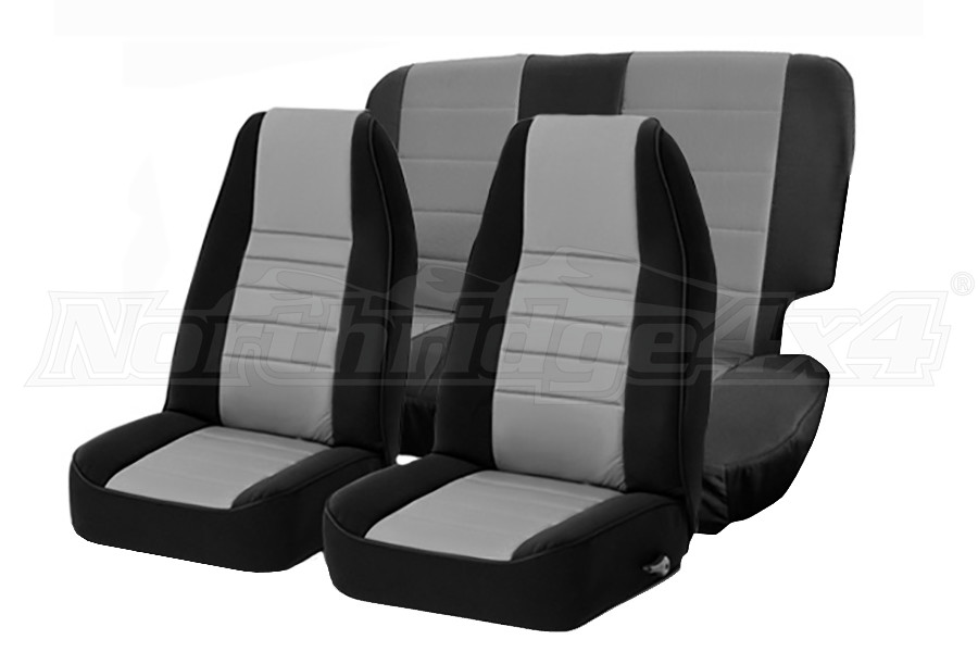 Smittybilt Neoprene Front and Rear Seat Covers Charcoal  (Part Number:471522)