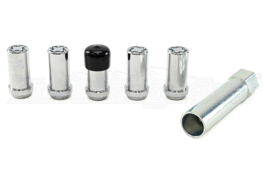 McGard  5-Lock Tuner Style Wheel Lock Set Set 1/2-20in Chrome (Part Number:25540)