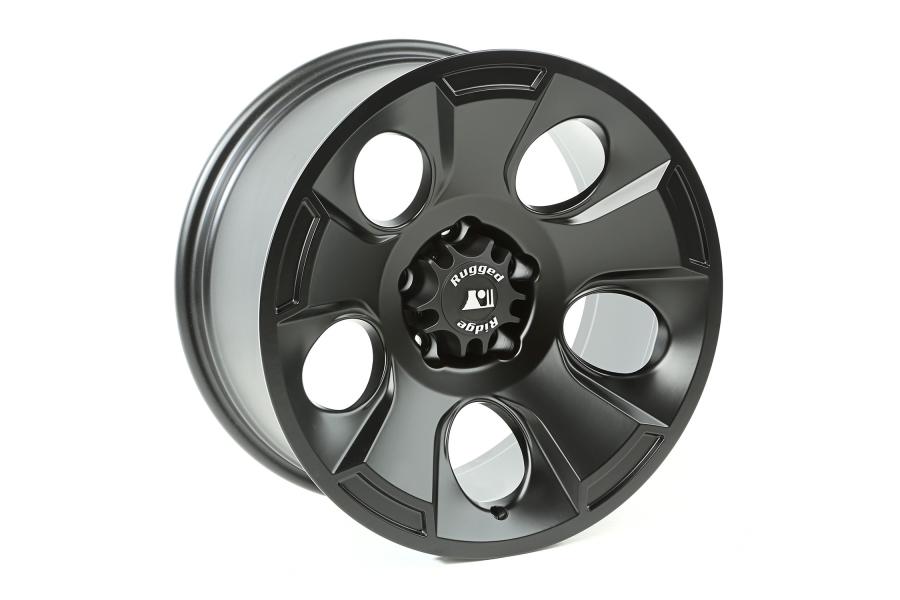 Rugged Ridge Drakon Wheel, 18x9, Black Satin ( Part Number: 15302.02)