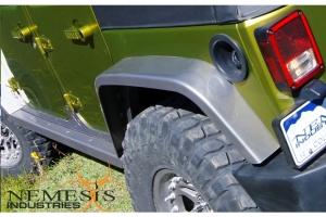 Nemesis Industries Notorious Rear Flare w/Skeletos, Texture Black Powder Coating Aluminum