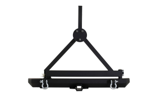 Smittybilt SRC Bumper w/Tire Carrier, Hitch and D-Rings ( Part Number: 76651D)