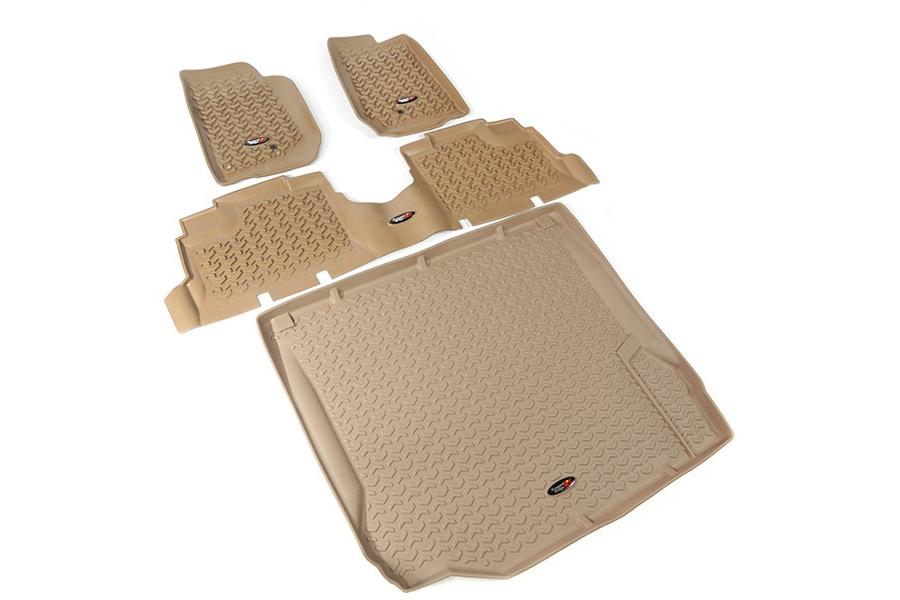 Rugged Ridge Floor Liner Kit, Tan (Part Number:13988.01)