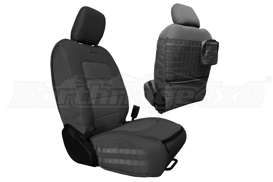 Bartact Tactical Series Front Seat Covers - Graphite/Graphite - JT