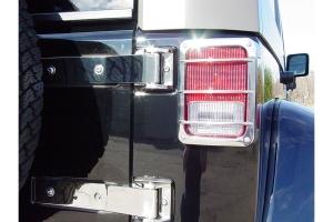 Kentrol Tailgate Hinge Set - Polished Silver  - JK