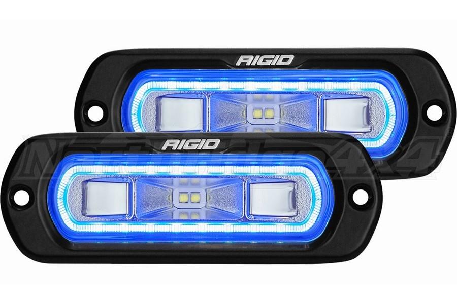 Rigid Industries SR-L Series Off-Road Spreader Lights, Blue Halo - Pair