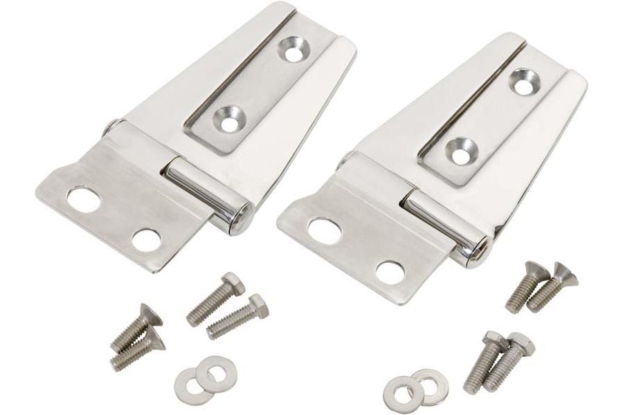 Kentrol Hood Hinge Set - Polished Silver  - JK