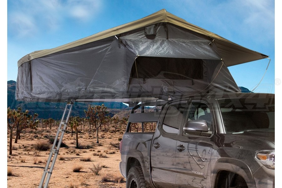 Overland Vehicle Systems Nomadic 3 Extended Roof Top Tent - Dark Gray/Green
