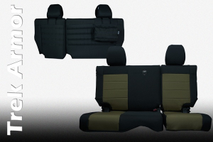 Bartact  Seat Cover Rear Split Bench 4 Door Coyote/Coyote (Part Number: JKSC0810R4CC)