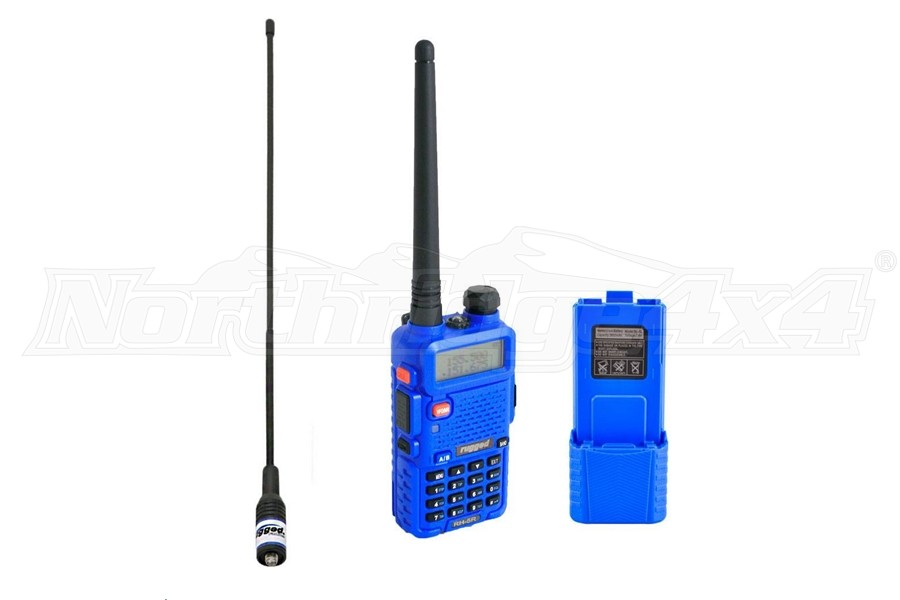 Rugged Radios RH5R, Ducky Antenna And Extended Battery Pack Kit