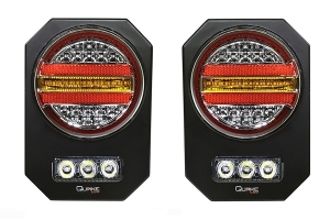 Quake LED Step Up LED Tail Lights - Pair - JT