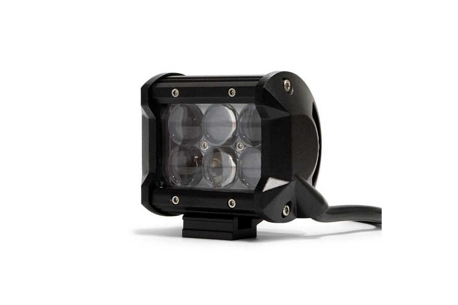 DV8 Offroad 4 in Chrome Series LED Cube Light - Spot/Flood Beam (Part Number:B4CE18W3W)