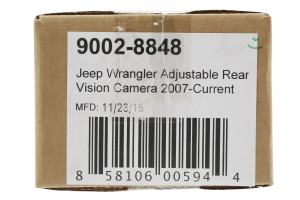 BrandMotion Adjustable Rear Vision Camera w/ RCA and Factory Display Harness (Part Number: 9002-8848)