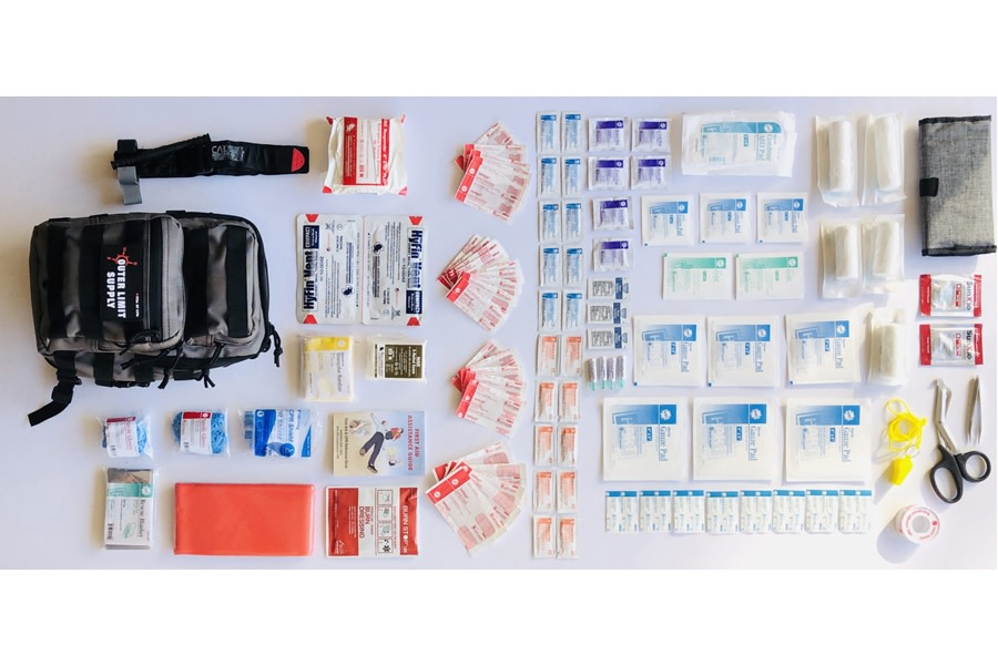 Outer Limit Supply Rover Sling First Aid Kit - Tornado, Black Webbing